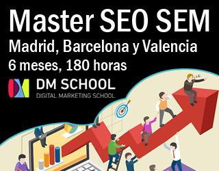 Master SEO SEM Madrid y Valencia